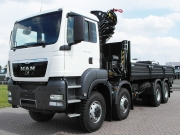 Спецавтолэнд - MAN TGS 41.480 BB-WW 8x8 бортовая платформа с краном HIAB, НОВЫЙ